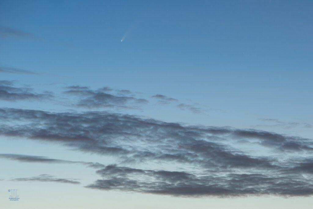 Der Komet Neowise wird sichtbar