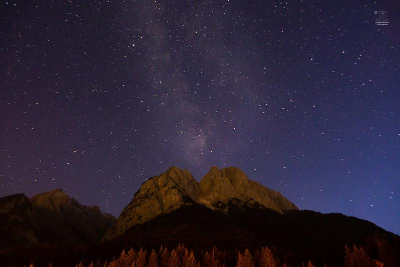 Die Milchstraße am Himmel im Oktober
